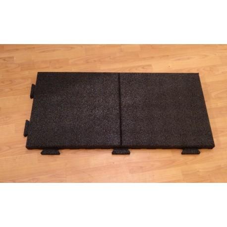 Suelo caucho loseta de 1000 x 500 x 25 y 43 mm
