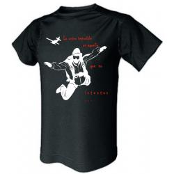 Camiseta técnica paraca (Mod. 1) negra