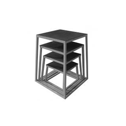 PLYOBOX (4 CAJONES) 30-45-60 y 75 cm (gris plata)