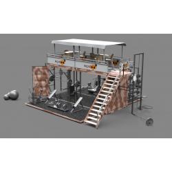 Box Cube Gym (abatible), Mod. BEACK