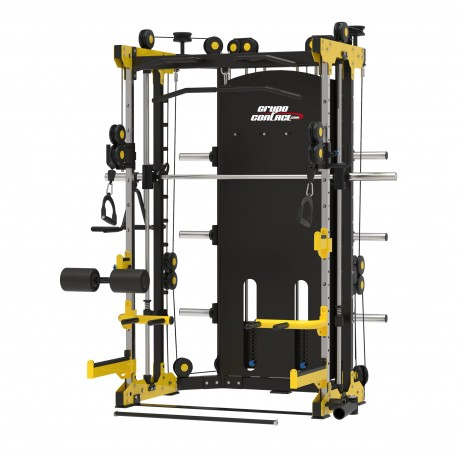 Maquina multifuncion TS100 (dobles poleas- multipower) profesional