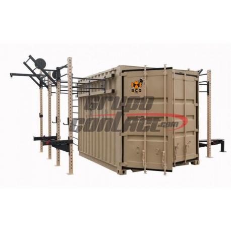 Box-Cube-Gym 1 puerta (600 x 240 x 250 alto Cm.) Mod. ARMY